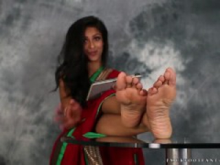 Indian Girl Feet   Sexy Girl Talks About Her Foot While Teasing You!   JOI